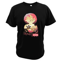 Dragon Ball Goku T Shirt Super Power Effects Pro Komik Jepang Atas Tee 100% Katun Cetak Digital Gunung Fuji Ukuran Uni Eropa T-shirt(China)