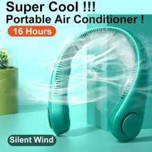 Airmsen Mini Bladeless Fan Neck Fan 4000 mAh USB Rechargeable Mute Sports 3-speed adjustable Portable Fans For Home Outdoor