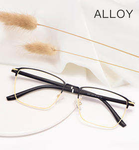 Image 1 - אופנה עסקים לגברים ונשים משקפיים סגסוגת מתכת מסגרת משקפיים עם מתכון מרשם Opticals