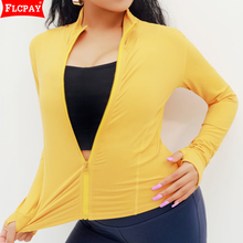 Running Jacket Fitness Yoga Zipper Top Slim-Fit Quick-Drying Long-Sleeve Casual Ladies
