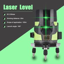 New Green Light Level 180 Degree Laser Level 2/3/5 Line 5m +/- 1mm High Precision 635nm-650nm Open Button Automatic Line Thrower