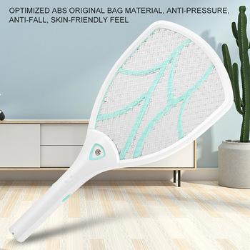Packa na komary Killer elektryczna przenośna ręczna rakieta owad pułapka na owady Swatter Killer tanie i dobre opinie bug racket 2-4 Godzin Baterie