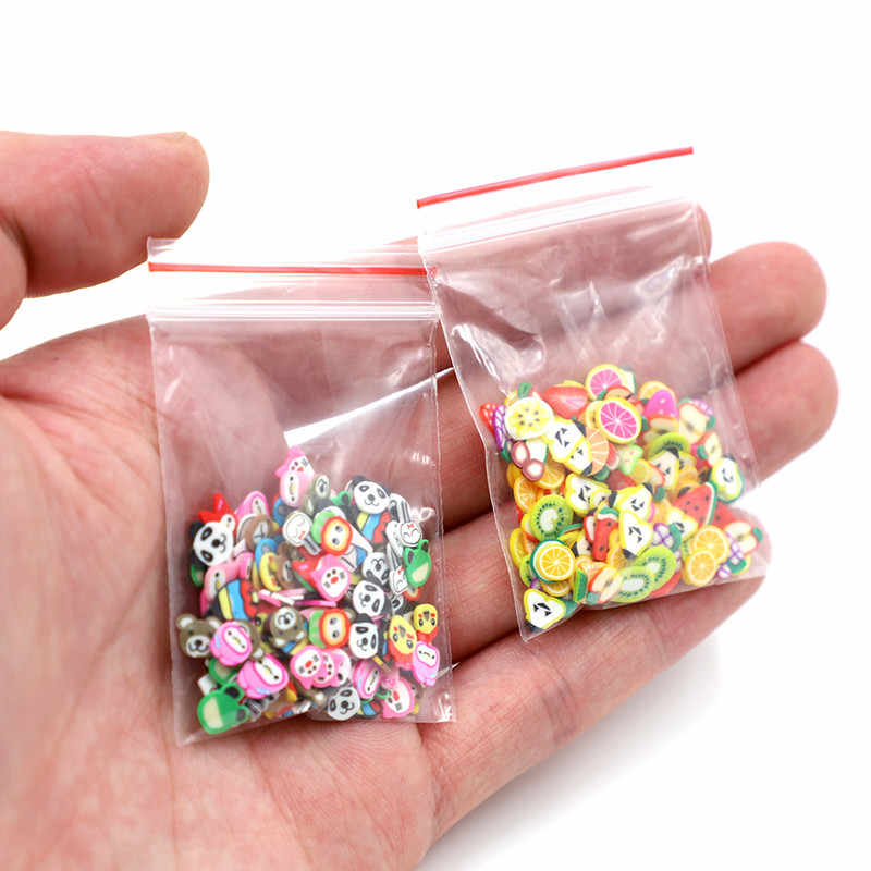 Fimo Slices Slide Charms for Slime Supplies Kit Fluffy Fruit Polymer Clear Slime Accessories Slide Putty Clay kids Toys Nail Art