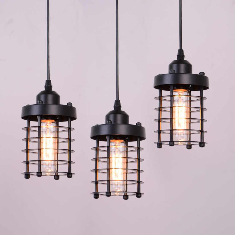 Ретро Лофт промышленный железный подвесной светильник черный подвесной светильник для гостиной спальни прохода подвесные светильники
