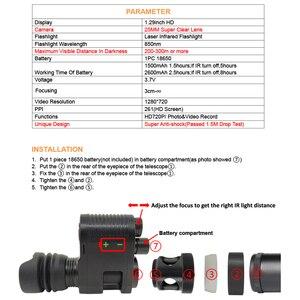 Image 4 - Sıcak yeni teleskop gece görüş açık avcılık optik Sight dürbün gece görüş LCD ve IR el feneri pil