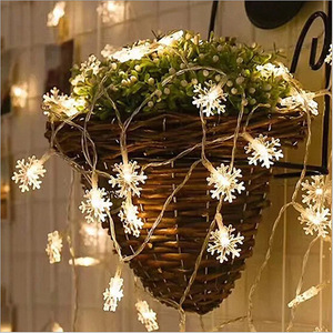 LED Snowflake String Lights We