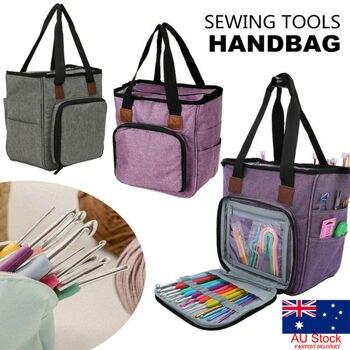 Ganchos de ganchillo, bolsa de almacenamiento de hilo, herramienta para tejer, accesorio, estuche Organizador de Transporte