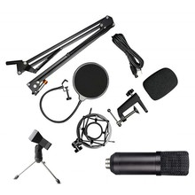 Retail USB Microphone Condenser Mic Podcast Kit for Windows/Mac with Arm Stand Tripod USB Cable and Table Mounting Clamp Kit for(China)