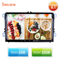 Seicane 2din RAM 2GB ROM 32GB Android 8.1 GPS 9inch Car Multimedia Player For Skoda/Seat/Volkswagen/VW/Passat b7/POLO/GOLF 5 6