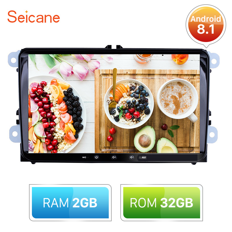 Seicane 2din RAM 2GB ROM 32GB <font><b>Android</b></font> 8.1 GPS 9inch <font><b>Car</b></font> Multimedia Player For Skoda/Seat/Volkswagen/VW/Passat b7/POLO/<font><b>GOLF</b></font> 5 <font><b>6</b></font> image