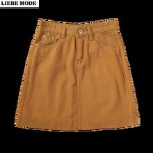 Корейская мода трапециевидной формы Короткая мини юбка с запахом