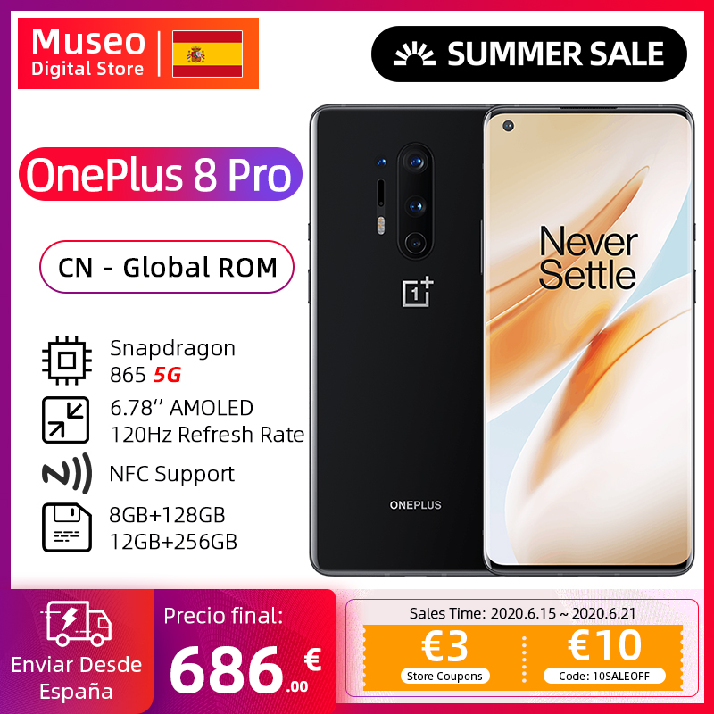 Global Rom Oneplus 8 Pro 5G Smartphone Snapdragon 865 6.78