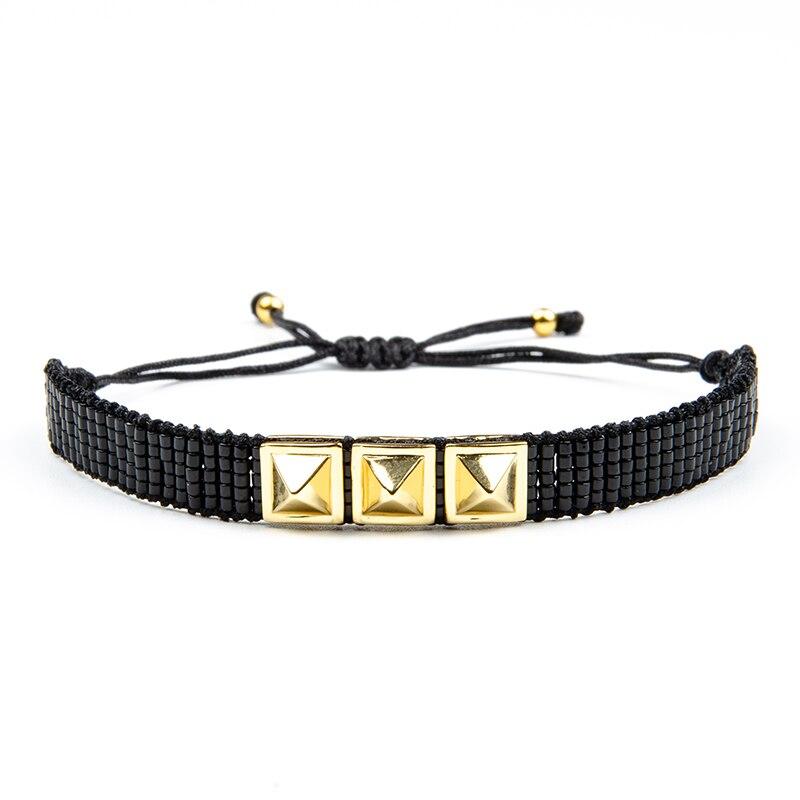 Rttooas Turkish Evil Eye Bracelet MIYUKI Hamsa Hand Jewelry Crystal Beaded  Bracelets Pulseras Mujer 2020 New