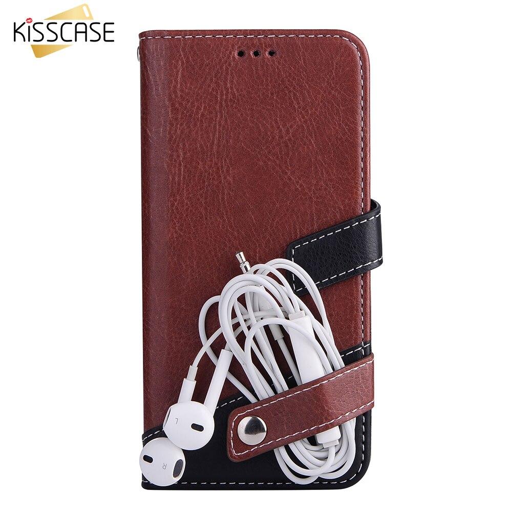 KISSCASE Flip Kožené pouzdro na peněženku pro iPhone 7 Pouzdro XS MAX 8 7Plus 8Plus XS X Knižní pouzdro pro iPhone XR Flip Cover 11pro 6 6S Capa