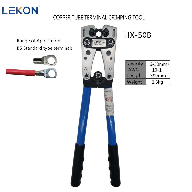 Pressure Clamp Large Y.O Terminal Wire Clamp Strong Bare Terminal Wire Clamp HX-50B 6-50mm Shoulder Clamping Tool
