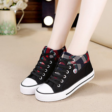 2019 Basket Black Canvas Shoes Women Sneakers Lace-up Casual