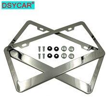 DSYCAR 2 Teile/satz Kennzeichen Rahmen, Dünne Auto Kennzeichen Halter Abdeckungen für Universal Autos UNS Standard