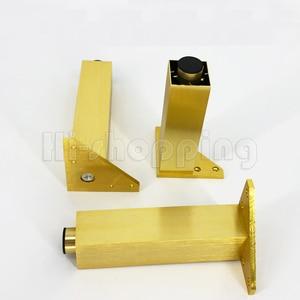 Image 2 - 4 adet Metal mobilya ayakları fırçalanmış altın 6 8 10 12 15 18 20CM TV dolabı banyo dolabı kahve masa Dresser koltuk ayakları