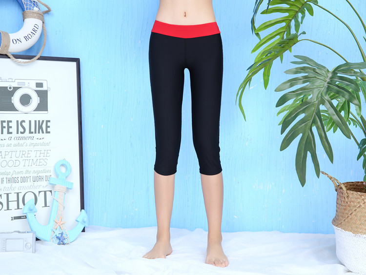 WOMEN'S Swimming Trunks Trousers Capri Pants Multi-color Boxers Ultra-stretch Quick-Dry Extra-large Swimming Trunks High-waisted