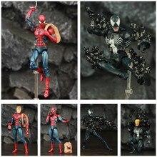 "Comic Venom & Amazing Spider 6"" Action Figure Edward Eddie Brock Legends Peter Parker Man Villain KOs Mafex 088 075 Toys Doll"