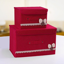 Non-woven Fabric Storage Box Finishing Box Bed Foldable Storage Box Fabric a Generation of Fat Buttoned Toy Storage Box