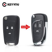 Keyyou modificado carro chave do escudo 2/3/4/5 botão da aleta para chevrolet lova aveo cruze para opel vauxhall insignia astra mokka para buick