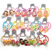 10Pcs lot Girl Mini Hair Band Fashion Candy Color Rubber Mermaid Girl Ties Ring Elastic Hair Rope Ponytail Holder(China)