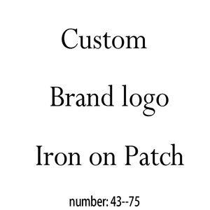 Custom brand logo patches Hot fix sticker heat transfer hot stamping clothing bag iron on patch(China)