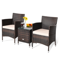 3 Pcs Outdoor Rattan Wicker Furniture Set HW63850