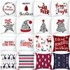 45x45cm Cartoon Santa Claus Elk Christmas Pillowcase 2020 Christmas Decor for Home Merry Christmas Ornament Navidad Xmas Gifts