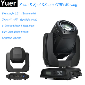 Beam Spot Zoom 3IN1 Moving Head Light High Quality 470W Moving Head Stage Light Dj Lighting Effect Disco Light Party DMX Control new stage light 260w led spot zoom moving head light 6 18 dmx channels beam spot wash 3in1 led strong light for party disco dj