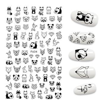 Nowa naklejka do paznokci 3D fajna angielska litera naklejki na paznokcie folia miłość z designem serca moda Manicure naklejki tanie i dobre opinie Jedna jednostka CN (pochodzenie) 12 3*7 6CM MJZH002 Naklejka naklejka Nail sticker 1PCS Sticker Decal