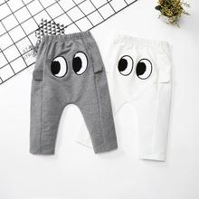 2020 nowe spodnie dla niemowląt dorywczo dla dzieci spodnie dla dzieci maluch chłopcy dziewczęta śliczne spodnie długa z bawełny spodnie dla niemowląt ubrania dla dzieci inspirowane kreskówkami tanie tanio Cartoon Luźne ET0169 Unisex COTTON Poliester Na co dzień Pasuje prawda na wymiar weź swój normalny rozmiar Suknem Elastyczny pas
