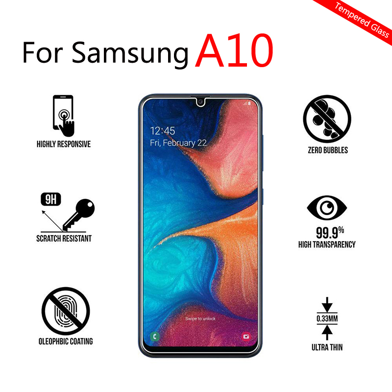 Protective <font><b>Glass</b></font> For <font><b>Samsung</b></font> <font><b>A10</b></font> Screen Protector On The For <font><b>Samsung</b></font> Galaxy <font><b>A10</b></font> <font><b>Tempered</b></font> Glas A 10 Sm-A105F A105 Display Film 9h image