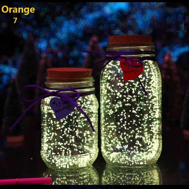 Fish Tank Noctilucent Sand Night Luminous Dark Bright Glow Fluorescent Particles Aquarium Fish Tank Decoration