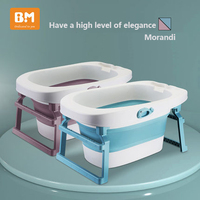 Baby bath tub folding newborn baby tub baby bath bucket child home can sit reclining bath tub