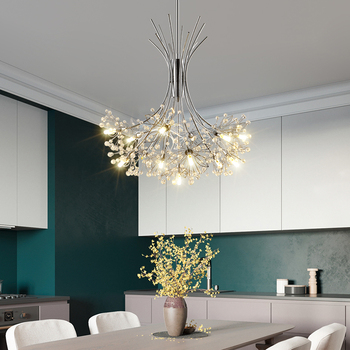 Modern led chandelier luxury crystal chandelier dining room chandelier black/gold/silver bedroom lighting bouquet chandelier modern light luxury led crystal chandelier tree branch wedding decoration lamp for dining room bedroom
