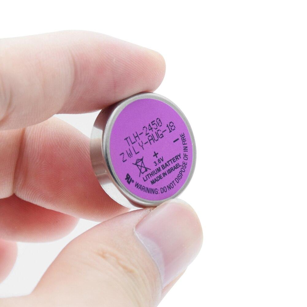 3.6V 550mAh TLH-2450 ER2450 Lithium Li Ion batterie batterie sèche pour la pression des pneus moniteur système bouton pièce de monnaie haute énergie