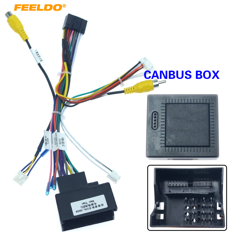 FEELDO 16pin Car Android Stereo Wiring Harness For Peugeot 3008/2008/Citroen C4/C-Quatre/C4L/C3 XR/C5/DS6 #HQ6226
