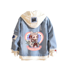 Toilet-bound Hanako-kun Cartoon Demin Jacket Harajuku Streetwear Anime Hoodies Long Sleeve Jeans Sweatshirt Plus Size Coats