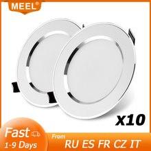 10 pçs led downlight 3w 5 7 9 12 15 recesso redondo conduziu a lâmpada luz de teto 220v 240v iluminação interna branco quente branco frio
