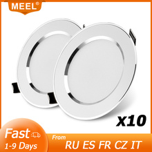 10Pcs LED Downlight 3W 5W 7W 9W 12W 15W Recessed Round LED Ceiling Light Lamp 220V 240V Indoor Lighting Warm White Cold White