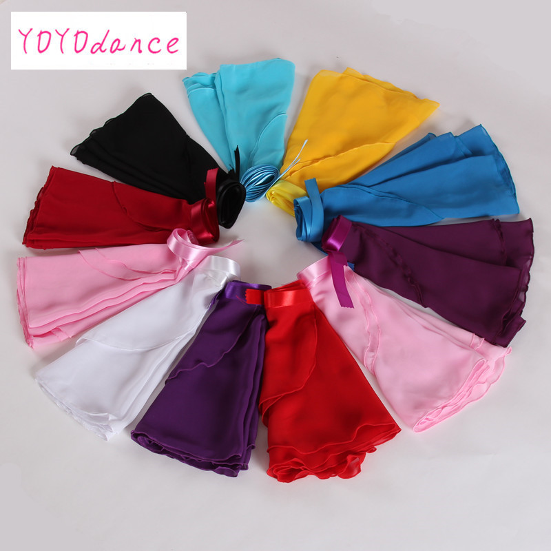 2020 New 15 Colors Available Children Kid Girl Chiffon Ballet Tutu Dance Costume Skirt Skate Wrap Scarf Ballet Tutu Dress