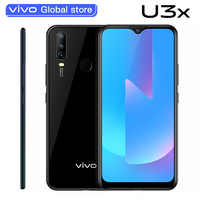 Marca nueva vivo U3x teléfonos celular Snapdragon665 4G 64G Triple AI Camera 5000mAh batería 18W OTG de carga Smartphone Android