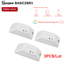 SONOFF Zigbee Smart Switch, беспроводной блок управления через Alexa SmartThings Hub, 3 шт.