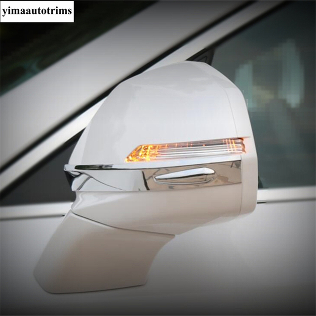 Door Rearview Mirror Protective Caps Stripes Cover Trim ABS Chrome / Carbon Fiber Look Exterior Fit For Cadillac XT4 2019 - 2021 5