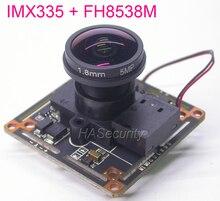 เลนส์ Fisheye AHD 5MP 4MP 1/2. 8 STARVIS IMX335 CMOS SENSOR + FH8538 กล้องวงจรปิดกล้องโมดูลบอร์ด PCB + IRC + สายเคเบิล OSD