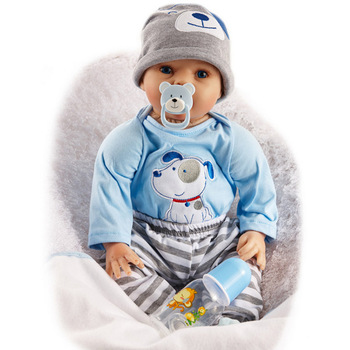 55CM Reborn Dolls Baby boy 22 Inch Newborn Babies DOLL with Smile toys for kids lifelike Realistic Bonecas Funny Toy New Year 22 inch newborn dolls that look real sleeping 55cm soft silicone reborn babies girl gift for children new year