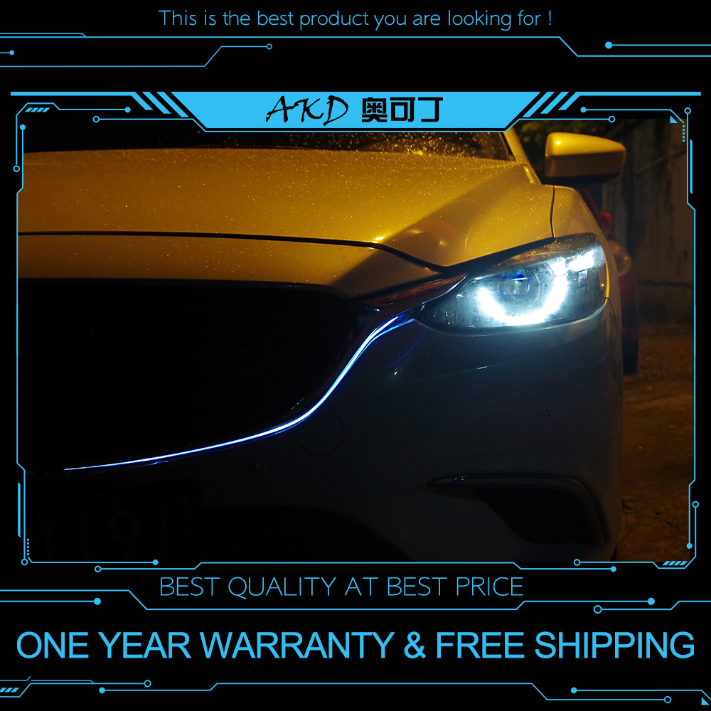 AKD Car GRILLE <font><b>light</b></font> for <font><b>MAZDA</b></font> <font><b>6</b></font> Mazda6 ATENZA 2017-2018 <font><b>LED</b></font> Contour <font><b>light</b></font> DRL FOR New <font><b>Mazda</b></font> <font><b>6</b></font> grille <font><b>led</b></font> daytime <font><b>light</b></font> image