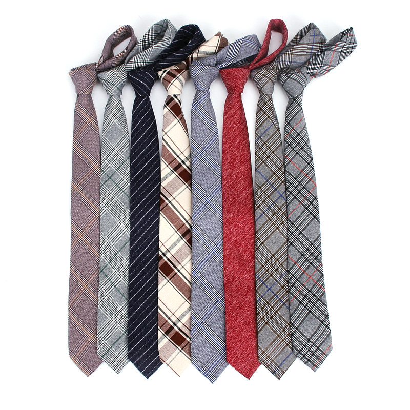 2019 Brand New Men's Fashino Vintage Solid Stripe Plaid TR Slim Neck Tie For Man Adults Women Wedding Narrow Neckties 14colors